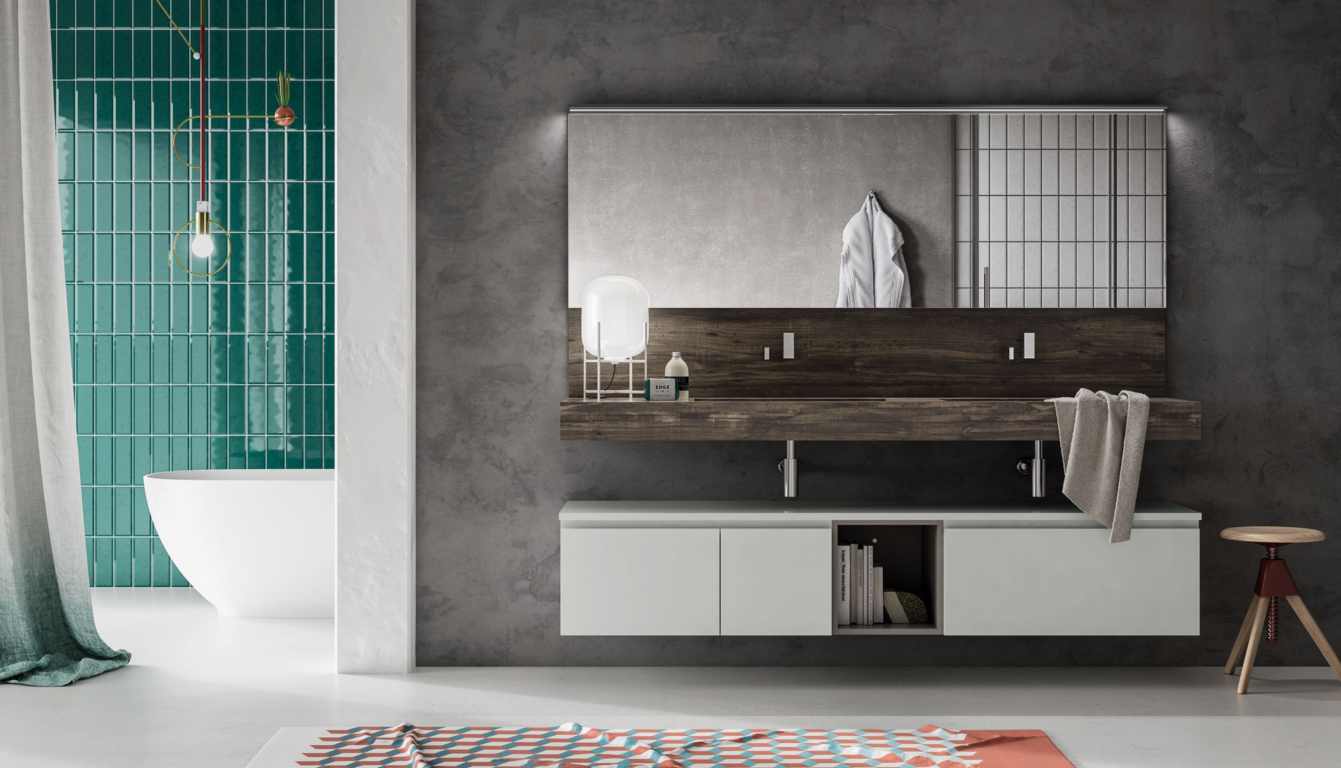 Bathroom furniture Groove System