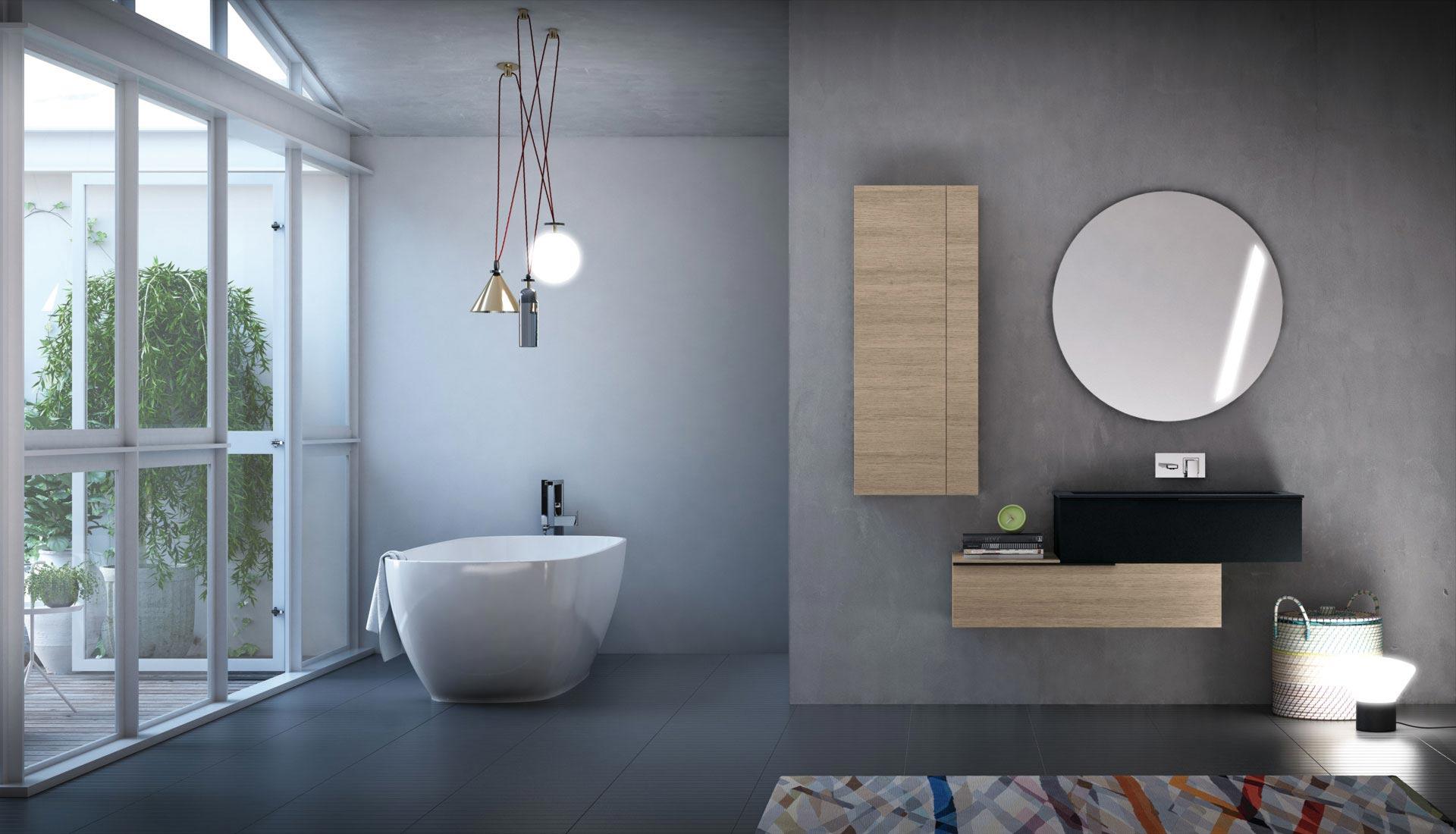 Bathroom furniture Handle system