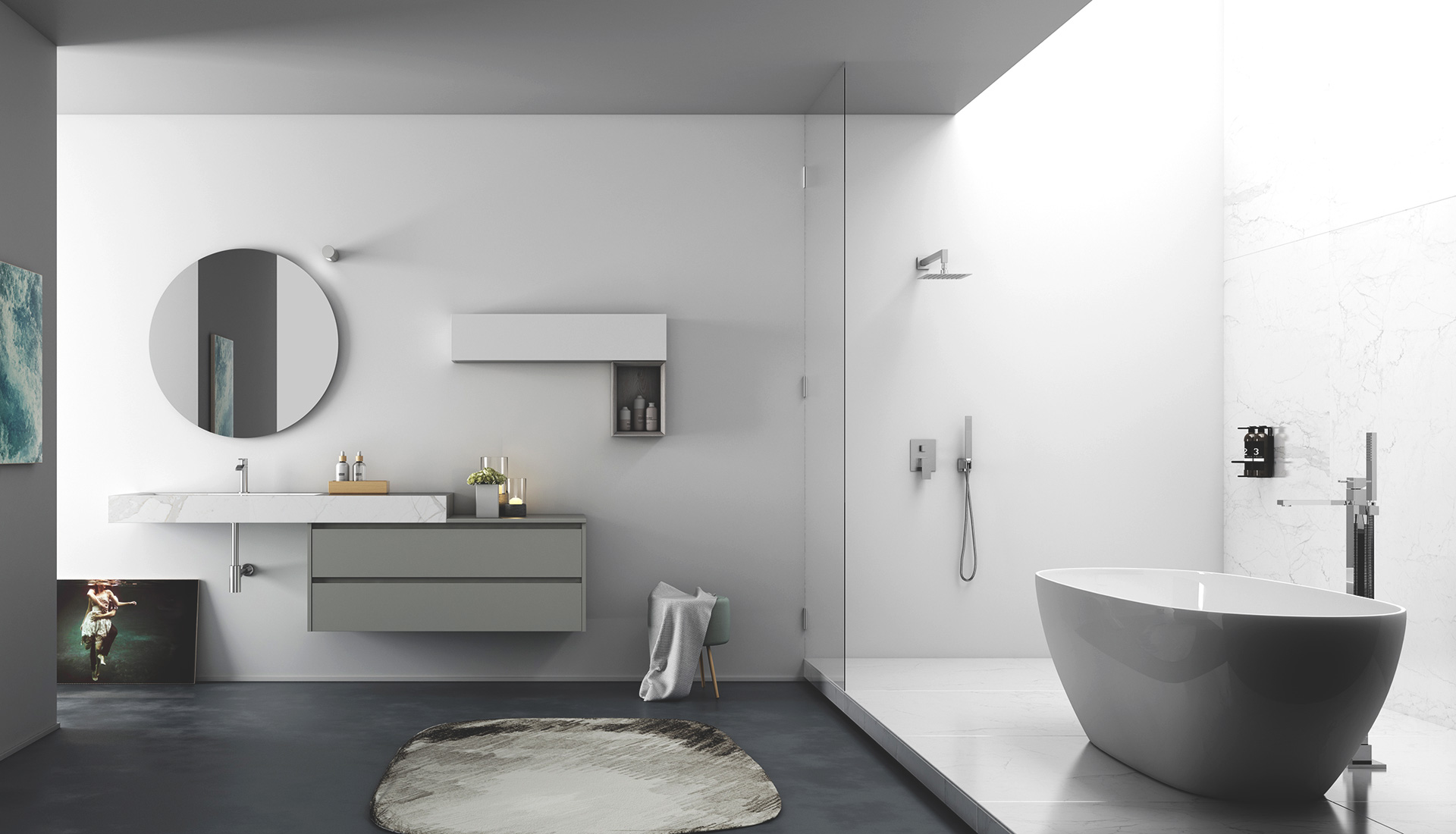handleless bathroom furniture - puntotre arredobagno - Arredo Bagno Puntotre