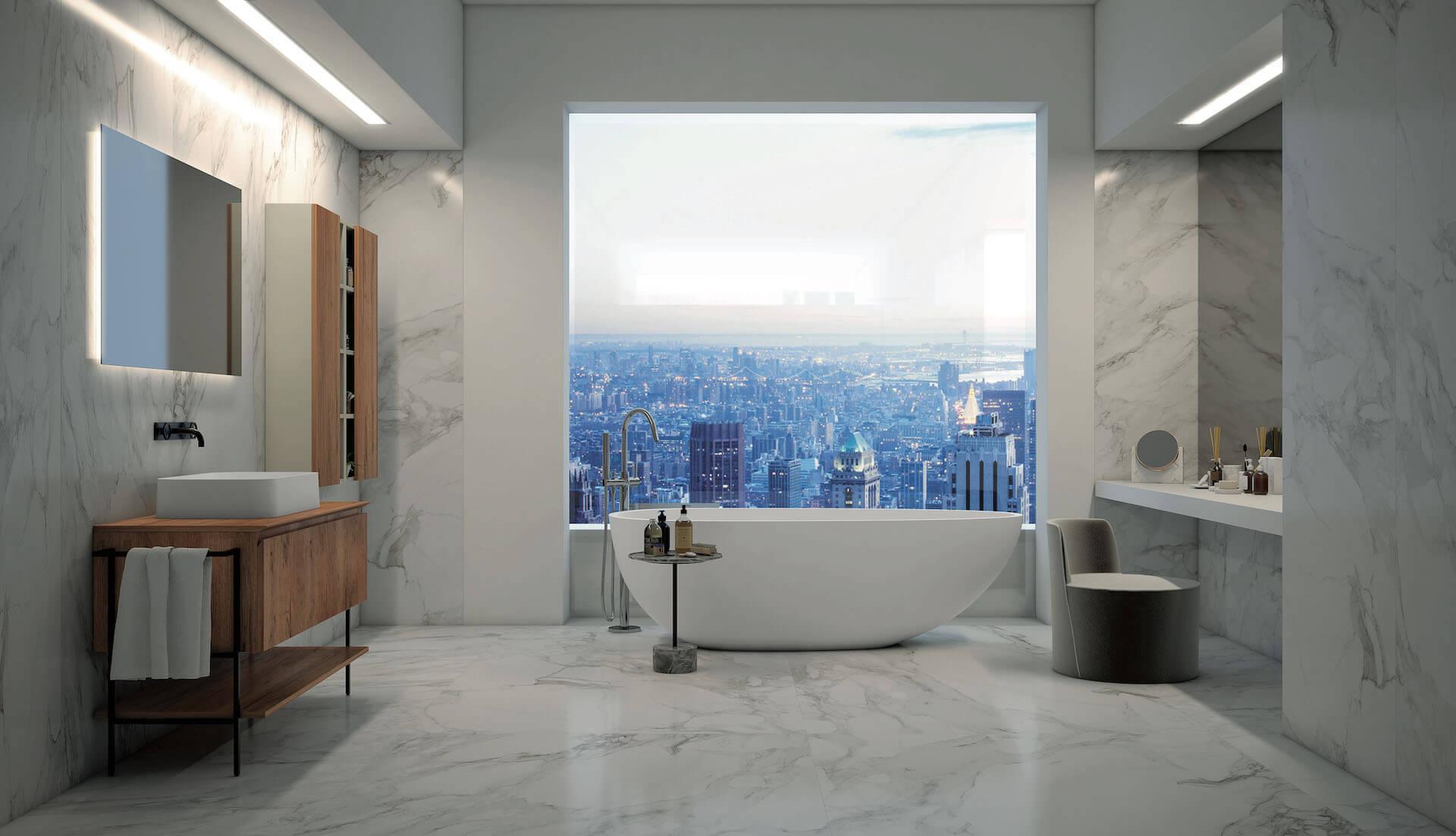 Mobile Bagno New York arredo bagno senza maniglia, con gola - puntotre arredobagno